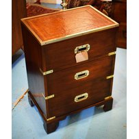 CAMPAIGN STYLE BEDSIDE CHESTS