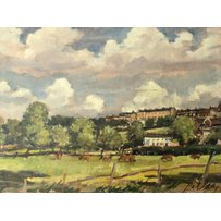 Four oil Paintings on board and panel dipicting Richmond Hill, an Richmond Park. Three signed Pet…