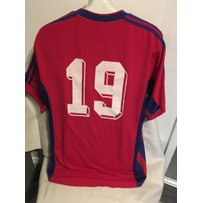 1999/2000 Steaua Bucharest Match Worn Football Shirt: Swapped with West Ham player after the UEFA…