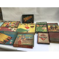 A collection of vintage board games including Backgammon, Blow Football, Chess etc…