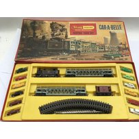 Triang Hornby, Car-a-belle electric train set, OO scale, RS62, includes Smoking Locomotives, two …