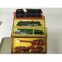 Included are 4 boxed hornby o gauge locomotives wi…