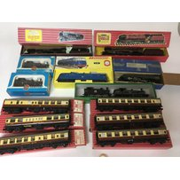 Included are 7 boxed oo gauge locomotives, includi…