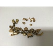 A 9ct gold charm bracelet 61 grams approx