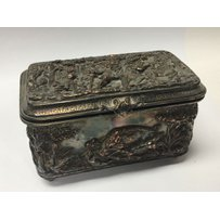 A Continental Early 20th Century trinket box decorated in ra…