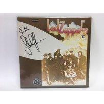 A Led Zeppelin 2 LP signed to the font in black marker pen b…