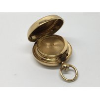 A quality 18carat gold sovereign case with sprung loaded com…