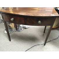A late George III Mahogany side table with a cross-banded to…
