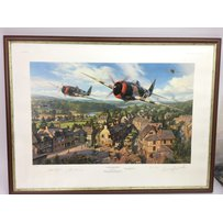 A limited edition, multi signed WWII print and a collection …