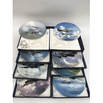 A boxed set of eight Coalport 'Reach for the Sky' collector'…