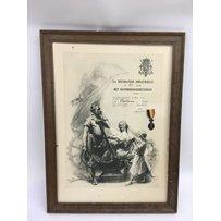 An 1892 Belgium 'La Decoration Industrielle' medal