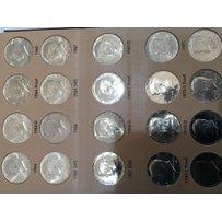 A Kennedy Half Dollar set 1964-2016 complete in tw…