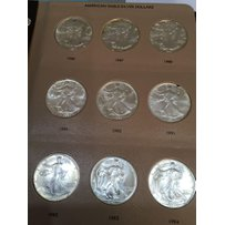A Set Of American Eagle Silver Dollars from 1986-2…