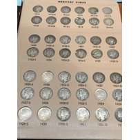 A rare and complete set of Mercury Dimes from 1916…