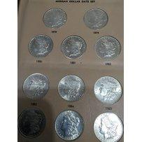 A Morgan Dollar Silver  Date Set. 1878 - onwards. …