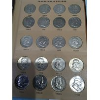 A complete set of Silver Franklin Half Dollars fro…