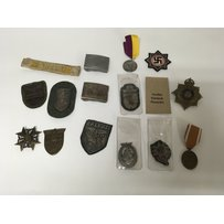A collection of German badges and medals including naval and…