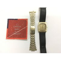 A Gents Omega Constellation watch with replacement black lea…