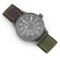 Laco. A nickel plated manual wind German military issue pilot's observation wristwatch