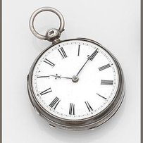 Vuilliamy. A silver key wind open face pocket watch in later case