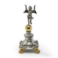 Silver and silver-gilt Host holder