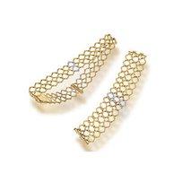 An eighteen karat gold, platinum and diamond necklace and bracelet